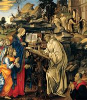Reprodukcje obrazów Wizje świętego Bernarda - Leonardo da Vinci Rozmiar - 50x60