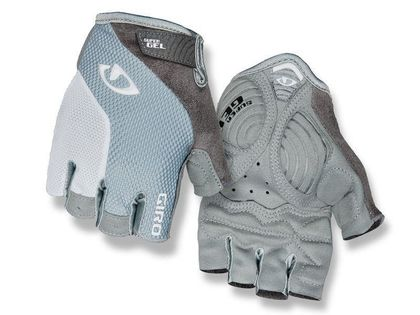 Rękawiczki damskie GIRO STRADA MASSA SG krótki palec titanium grey white roz. L (obwód dłoni 190-204 mm / dł. dłoni 185-195 mm) (NEW)