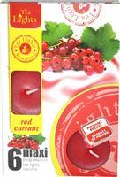 Duże podgrzewacze Tealight Maxi a'6 Red currant
