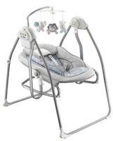 Przenośna Huśtawka z leżaczkiem szara dla niemowląt Baby Mix