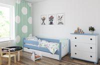 Łóżko LEON 160 x 80 szuflada + barierka ochronna + MATERAC GRATIS