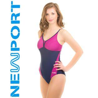 Kostium pływacki LUCY Rozmiar - Stroje damskie - 44(2XL), Kolor - Stroje damskie - Lucy - 49 - granat / fiolet