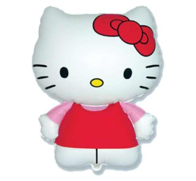 Balon foliowy HELLO KITTY biały kotek bajka KOT zdjęcie 1