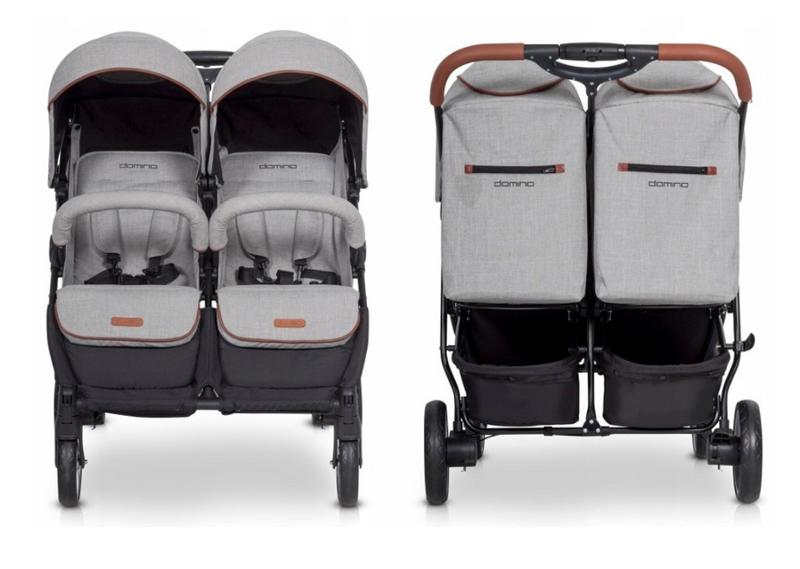 EasyGo Domino wózek dla bliźniąt spacerowy bliźniaczy DENIM wys.0zł zdjęcie 6