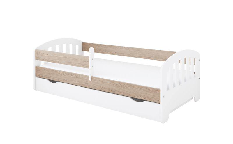 Łóżko CLASSIC 160 x 80 szuflada + barierka ochronna + MATERAC GRATIS na Arena.pl