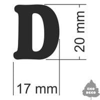 Literka do napisów - D