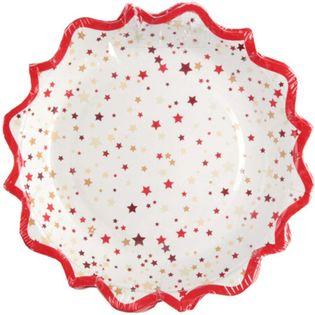 """Talerzyki papierowe """"Świąteczne"""", SANTEX, 18 cm, 10 szt"""