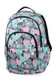 Plecak szkolny CoolPack Basic Plus 27L, Minty Hearts, B03018