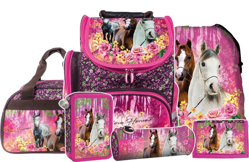 5389f952e659f Tornister szkolny ergonomiczny I LOVE HORSES Konie (TEMBKO15SET6CZ) zdjęcie  1