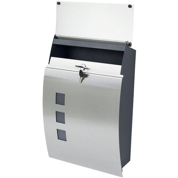 Zamykana skrzynka pocztowa na listy gazety ze stali szlachetnej MB05 zdjęcie 4