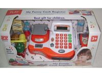 Edukacyjna sklepowa kasa fiskalna - kalkulator, waga, akcesoria