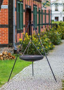 Wok na trójnogu Korono 180/130 180cm/60cm z misą ze stali czarnej