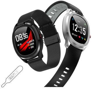 Smartwatch Zegarek Termometr PULS ECG Ciśnienie Gorączka Ip68 Stalowy