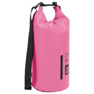 Lumarko Worek wodoszczelny z suwakiem, różowy, 20 L, PVC