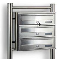 14413 Skrzynka pocztowa wrzutnia lokatorska lokatorka stalowa metalic