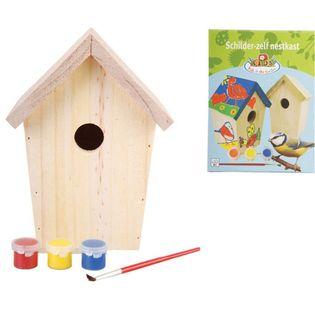 Lumarko DIY domek dla ptaszków z farbą 14,8x11,7x20 cm KG145