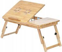 Rozkładany Bambusowy Stolik Pod Laptopa Podstawka 17'' O174