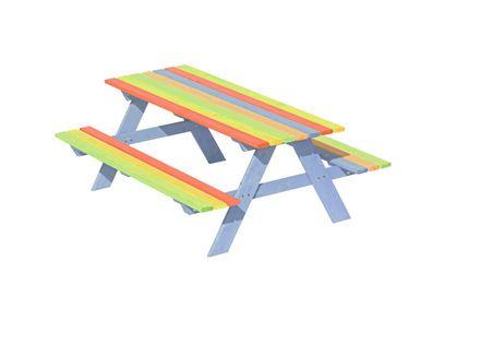 Stolik ogrodowy drewniany dla dzieci
