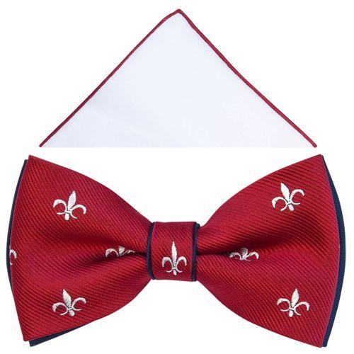 Czerwona mucha w ornamenty - lilijki harcerskie A314 na Arena.pl