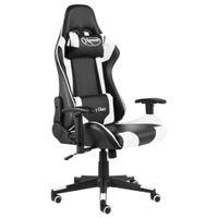 Lumarko Obrotowy fotel gamingowy, biały, PVC