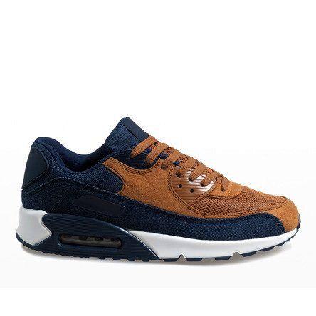 Granatowe męskie obuwie sportowe 8104 r.45 zdjęcie 1