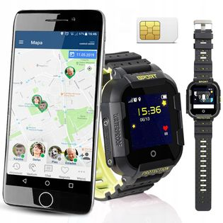 Wodoszczelny Smartwatch Dla Dzieci CALMEAN SPORT Kolor: Czarny