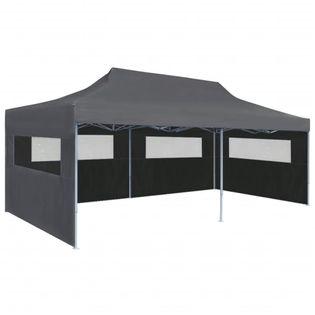 Składany namiot ze ścianami bocznymi, 3x6m, antracytowy
