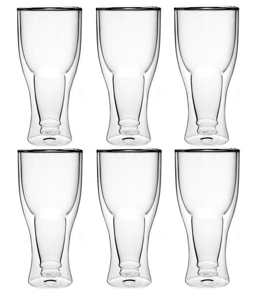 Szklanki Kufle Termiczne z Podwójną Ścianką Piwa Pokale 350ml 6 sztuk zdjęcie 3