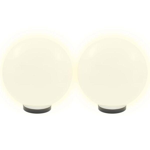Lampy zewnętrzne LED, 2 szt., kule 30 cm, PMMA zdjęcie 3