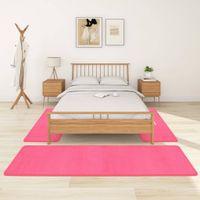 Lumarko Puszyste dywaniki do sypialni, z długim włosiem, 3 szt., różowe!