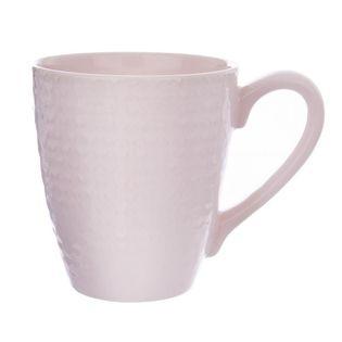 Kubek Ceramiczny 430Ml Różowy Orion Relief 127254-R