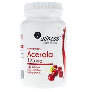Aliness Acerola (Naturalna Witamina C) 125 mg - 120 tabletek