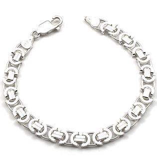 Bransoleta srebrna męska EURO 20 cm