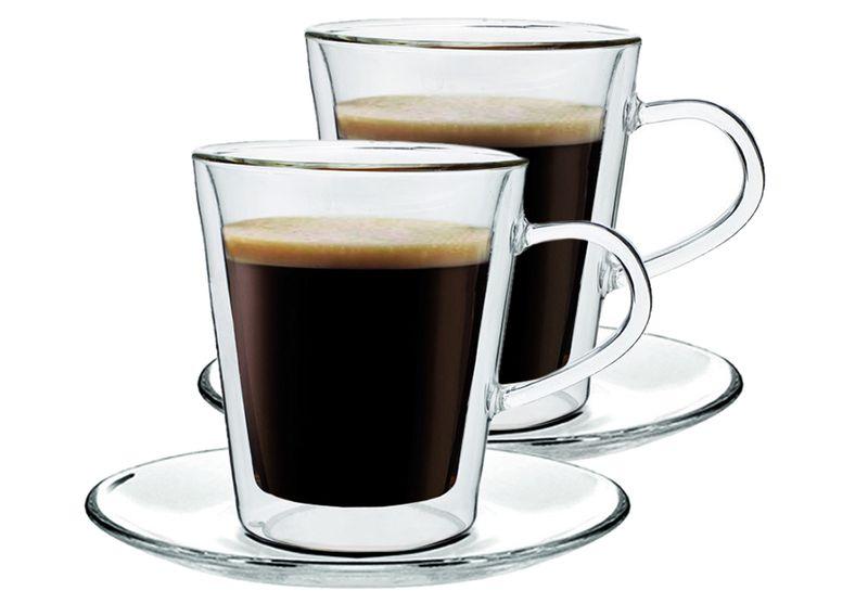 Szklanki Termiczne do Kawy Lungo Herbaty 220ml 2 sztuki zdjęcie 1