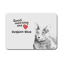 Russian Blue- podkładka pod mysz z wizerunkiem kota