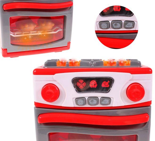 Kuchenka dla dzieci Piekarnik LED Garnki Kurczak Ruszt Kuchnia U29 zdjęcie 9