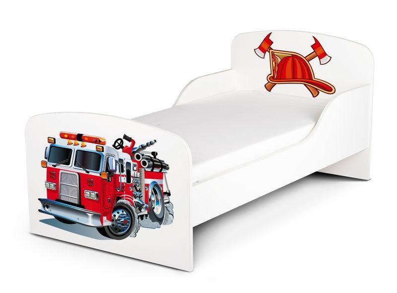 Łóżko dla dzieci 140x70 z materacem i szufladą Strażak 102/248001S zdjęcie 4