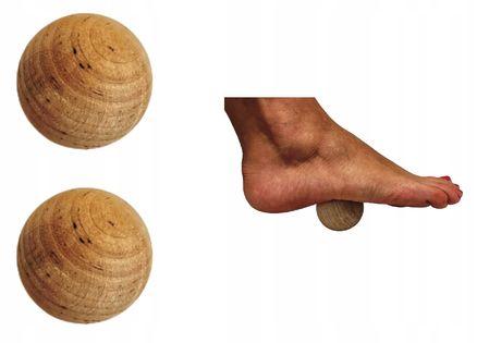 Piłka do masażu mięśni kulka drewniana 2 szt.