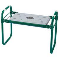 Draper Tools Składane krzesło/klęcznik ogrodowy żelazny zielony VidaXL