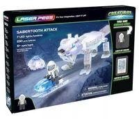 Laser Pegs Świecące Klocki Atak Tygrysa Szablozębnego 18404