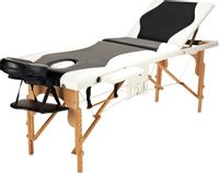 Stół, łóżko do masażu 3-segmentowe drewniane dwukolorowe