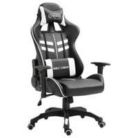 Fotel dla gracza, biały, sztuczna skóra