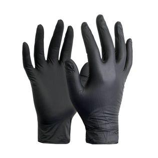 Rękawice nitrylowe Czarne rękawiczki Para roz. M