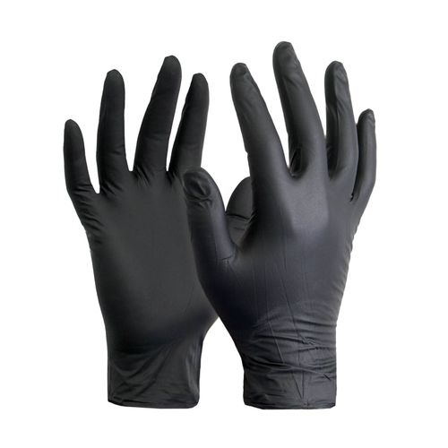Rękawice nitrylowe Czarne rękawiczki Para roz. M na Arena.pl