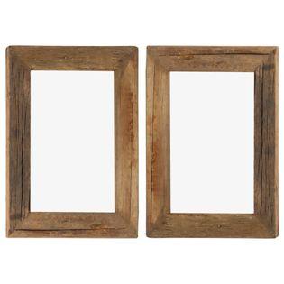 Lumarko Ramki na zdjęcia, 2 szt., 30x40 cm, drewno z odzysku i szkło!