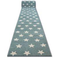Chodnik SKETCH - FA68 turkusowo/kremowy - Gwiazdki Gwiazdy 80 cm niebieski