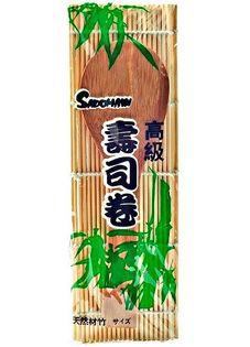 Mata bambusowa z łopatką do ryżu 24x24cm - Sadomaw