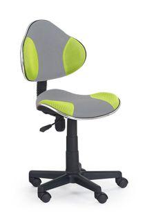 Fotel do biurka FLASH dla dziecka SZARO ZIELONE