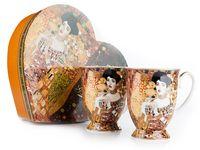 2 kubki porcelanowe w sercu Adele KLIMT CARMANI