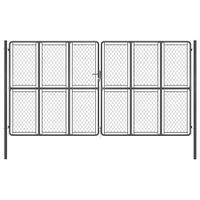 Brama ogrodzeniowa, stalowa, 400x200 cm, antracytowa